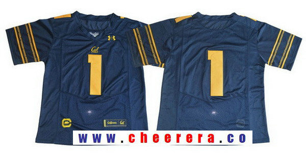 Men's California Golden Bears #1 No Name Navy Blue 2017 Cal College Football Stitched Under Armour NCAA Jersey