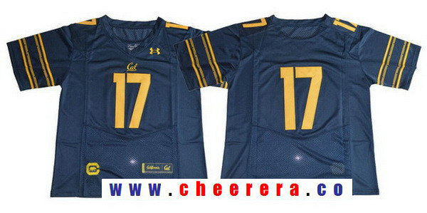 Men's California Golden Bears #17 No Name Navy Blue 2017 Cal College Football Stitched Under Armour NCAA Jersey