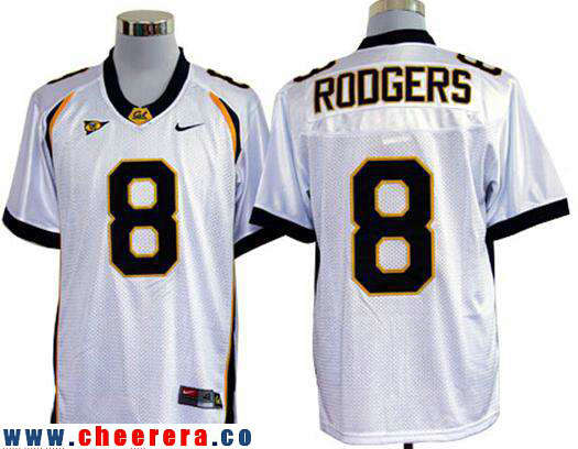 Men's California Golden Bears #8 Aaron Rodgers White Stitched College Football Nike NCAA Jersey