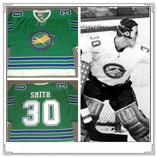 Men's California Golden Seals #30 GARY SMITH 1967 CCM Vintage Throwback Home Green Jersey