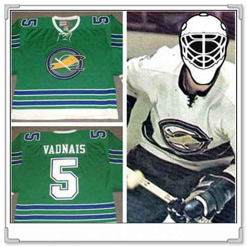 Men's California Golden Seals #5 carol vadnais1968 CCM Vintage Throwback Home Green Jersey