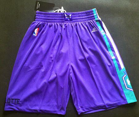 Men's Charlotte Hornets Purple Swingman Short