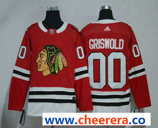 Men's Chicago Blackhawks #00 Clark Griswold Red 2017-2018 Hockey Stitched NHL Jersey