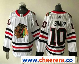 Men's Chicago Blackhawks #10 Patrick Sharp White 2017-2018 Hockey Stitched NHL Jersey