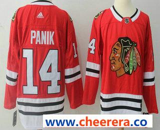 Men's Chicago Blackhawks #14 Richard Panik Red 2017-2018 Hockey Stitched NHL Jersey