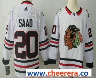 Men's Chicago Blackhawks #20 Brandon Saad White 2017-2018 Hockey Stitched NHL Jersey