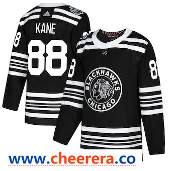 Men's Chicago Blackhawks #88 Patrick Kane Black 2019 Winter Classic Adidas Stitched NHL Jersey