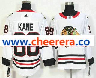 Men's Chicago Blackhawks #88 Patrick Kane White 2017-2018 Hockey Stitched NHL Jersey