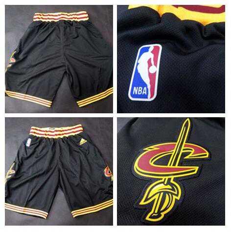 Men's Cleveland Cavaliers 2016 New Black Shorts