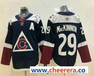 Men's Colorado Avalanche #29 Nathan MacKinnon Navy Blue Alternate Adidas Stitched NHL Jersey