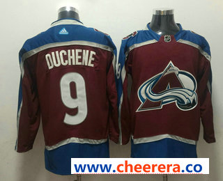 Men's Colorado Avalanche #9 Matt Duchene Red 2017-2018 Hockey Stitched NHL Jersey