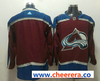 Men's Colorado Avalanche Blank Red 2017-2018 Hockey Stitched NHL Jersey