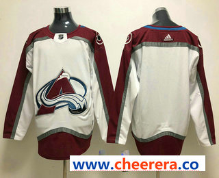 Men's Colorado Avalanche Blank White 2017-2018 Hockey Stitched NHL Jersey