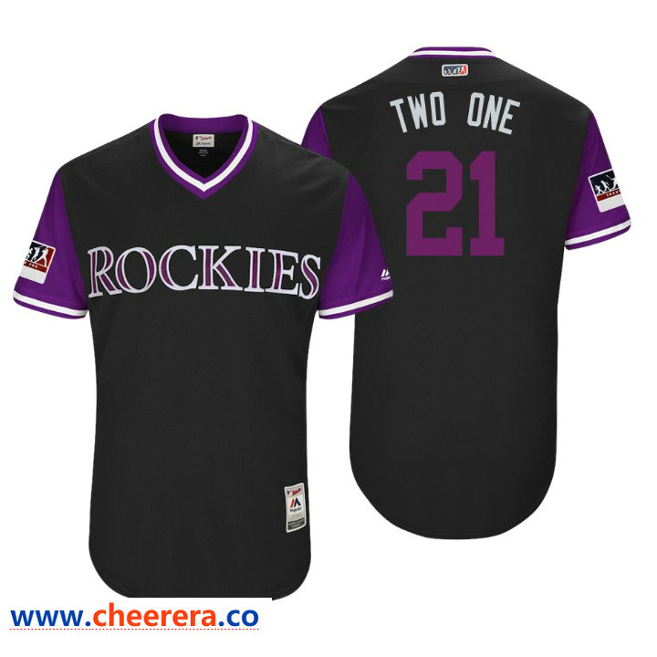 Men's Colorado Rockies Authentic Kyle Freeland #21 Black 2018 LLWS Players Weekend Two One Jersey