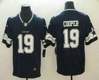 Men's Dallas Cowboys #19 Amari Cooper Navy Blue 2017 Vapor Untouchable Stitched NFL Nike Limited Jersey