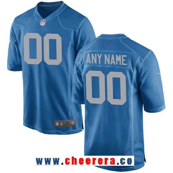 Men's Detroit Lions Nike Royal Custom Alternate Game Jersey