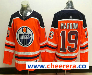 Men's Edmonton Oilers #19 Patrick Maroon Orange Home 2017-2018 Hockey Stitched NHL Jersey