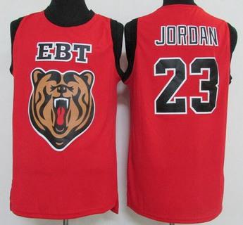 Men's Emma B Trask Middle School #23 Lebron James Red Soul Swingman High School Basketball Jersey