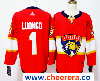 Men's Florida Panthers #1 Roberto Luongo Red 2017-2018 Hockey Stitched NHL Jersey