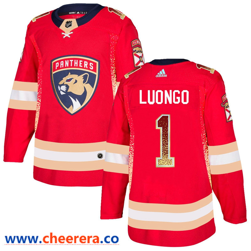 Men's Florida Panthers #1 Roberto Luongo Red Drift Fashion Adidas Jersey