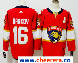 Men's Florida Panthers #16 Aleksander Barkov Red 2017-2018 Hockey Stitched NHL Jersey