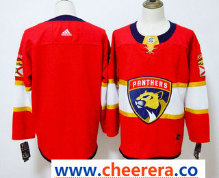 Men's Florida Panthers Blank Red 2017-2018 Hockey Stitched NHL Jersey