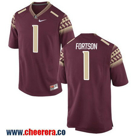 Men's Florida State Seminoles #1 Jarmon Fortson Red Stitched College Football 2016 Nike NCAA Jersey