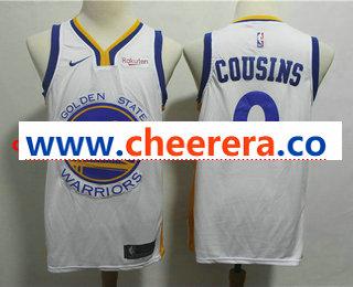 Men's Golden State Warriors #0 DeMarcus Cousins White 2019 Nike Swingman NEW Rakuten Logo Stitched NBA Jersey