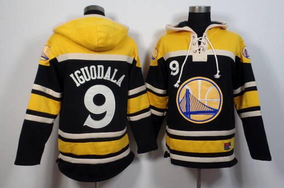 Men's Golden State Warriors #9 Andre Iguodala Black Hoodie