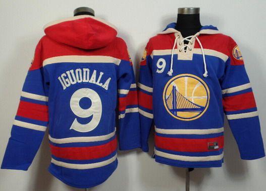 Men's Golden State Warriors #9 Andre Iguodala Blue Hoodie