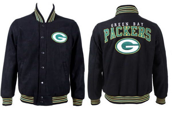 Men's Green Bay Packers Black Jacket FY