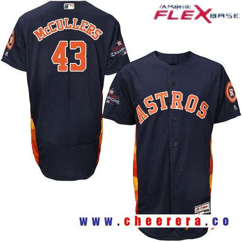 Men's Houston Astros #43 Lance McCullers Navy Blue Alternate Majestic Flex Base Stitched 2017 World Series
