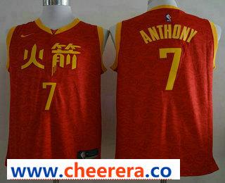 Men's Houston Rockets #7 Carmelo Anthony New Red 2019 City Edition NBA Swingman Jer