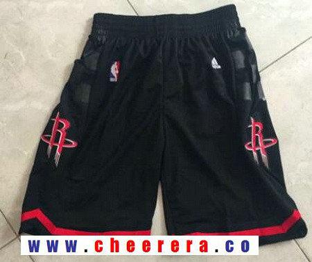 Men's Houston Rockets Black Basketball Shorts