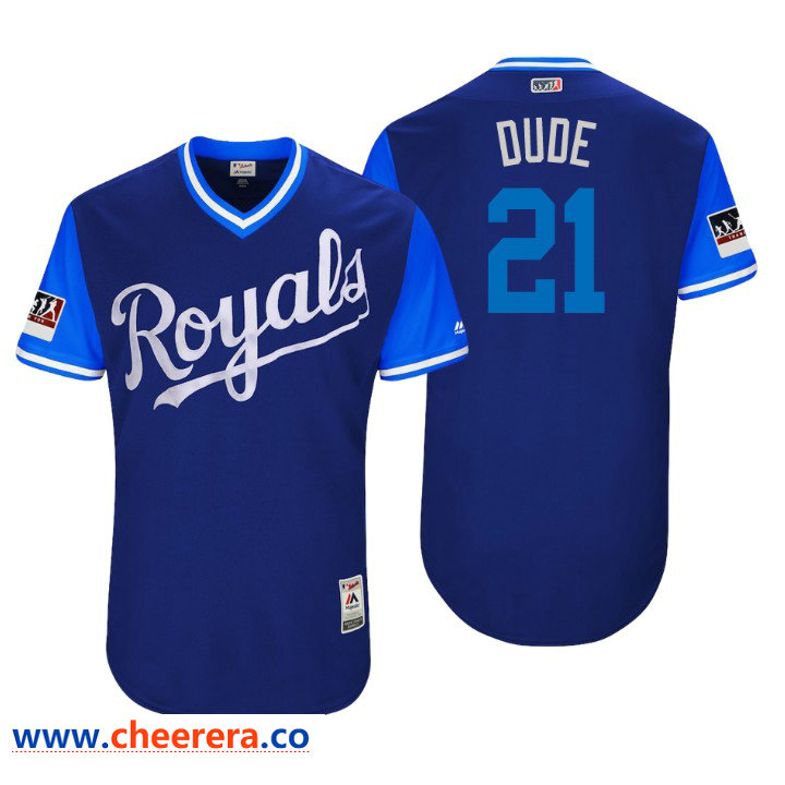Men's Kansas City Royals Authentic Lucas Duda #21 Royal 2018 LLWS Players Weekend Dude Jersey