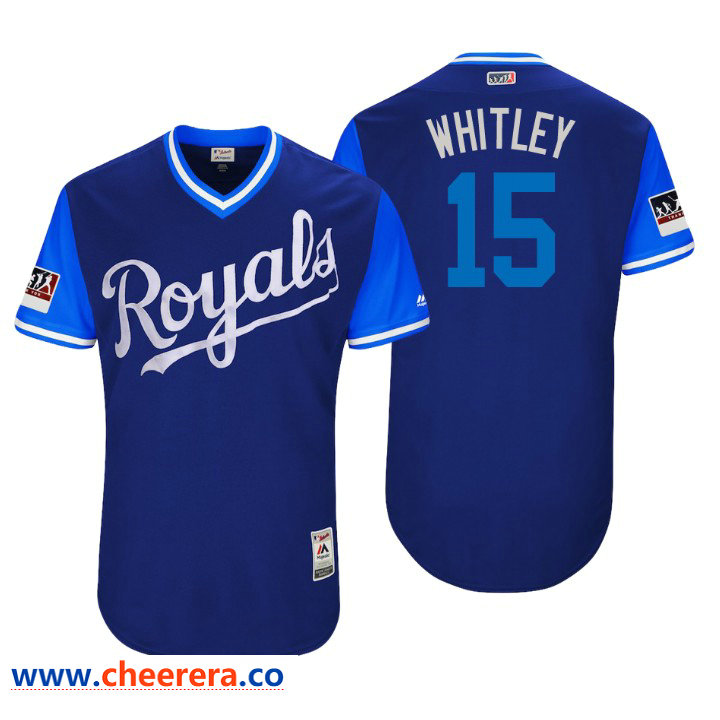 Men's Kansas City Royals Authentic Whit Merrifield #15 Royal 2018 LLWS Players Weekend Whitley Jersey