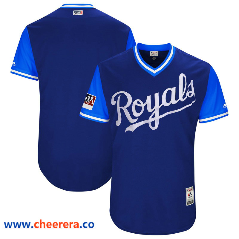 Men's Kansas City Royals Majestic Royal-Light Blue 2018 Players' Weekend Authentic Team Jersey