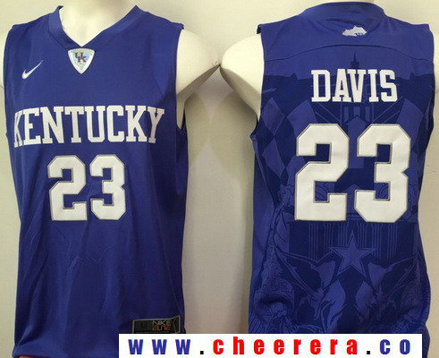 Men's Kentucky Wildcats #23 Anthony Davis Royal Blue College Basketball Stitched NCAA 2016 Nike Swingman Jersey