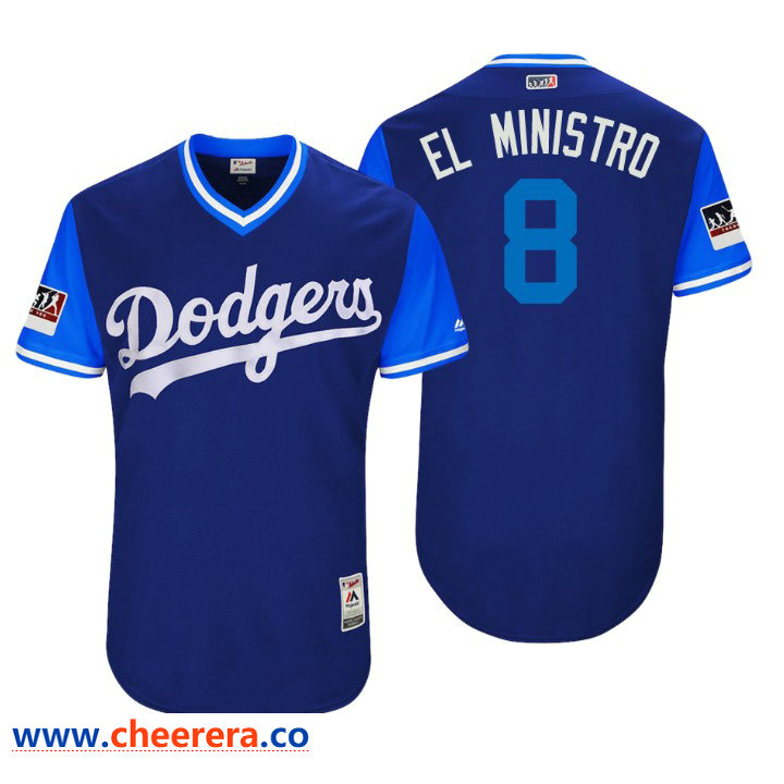 Men's Los Angeles Dodgers Authentic Manny Machado #8 Royal 2018 LLWS Players Weekend El Ministro Jersey