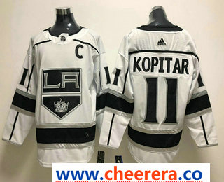 Men's Los Angeles Kings #11 Anze Kopitar White 2017-2018 Hockey Stitched NHL Jersey