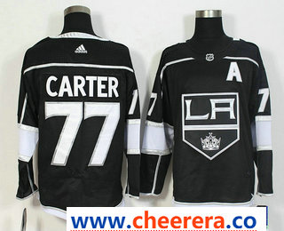 Men's Los Angeles Kings #77 Jeff Carter Black 2017-2018 Hockey Stitched NHL Jersey