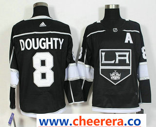 Men's Los Angeles Kings #8 Drew Doughty Black 2017-2018 Hockey Stitched NHL Jersey