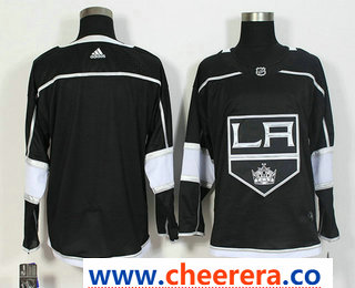 Men's Los Angeles Kings Blank Black 2017-2018 Hockey Stitched NHL Jersey