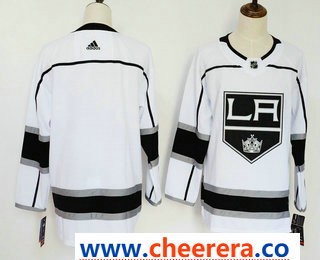 Men's Los Angeles Kings Blank White 2017-2018 Hockey Stitched NHL Jersey