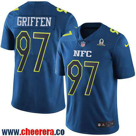 Men's Minnesota Vikings #97 Everson Griffen Navy Blue NFC 2017 Pro Bowl Stitched NFL Nike Game Jersey