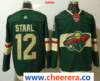 Men's Minnesota Wild #12 Eric Staal Green 2017-2018 Hockey Stitched NHL Jersey