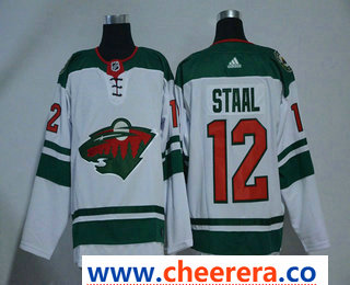 Men's Minnesota Wild #12 Eric Staal White 2017-2018 Hockey Stitched NHL Jersey