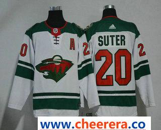 Men's Minnesota Wild #20 Ryan Suter White 2017-2018 Hockey Stitched NHL Jersey
