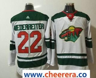 Men's Minnesota Wild #22 Nino Niederreiter White 2017-2018 Hockey Stitched NHL Jersey