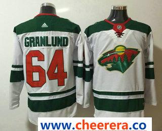 Men's Minnesota Wild #64 Mikael Granlund White 2017-2018 Hockey Stitched NHL Jersey